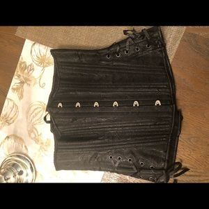 Other - Black corset with silver details
